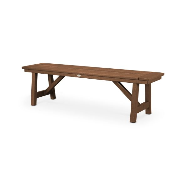 """Rustic Farmhouse 60"""" Backless Bench 1"""