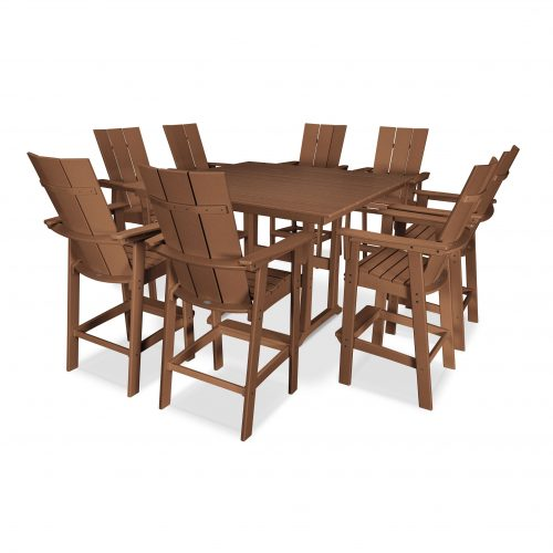 Modern Adirondack 9-Piece Farmhouse Bar Set 4