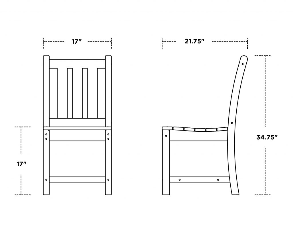 Traditional Garden Dining Side Chair 3