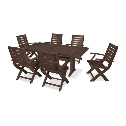 Signature 7 Piece Folding Chair Dining Set 27